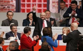 Στο «τιμόνι» του SPD ο Σούλτς με το απίστευτο ποσοστό 100%