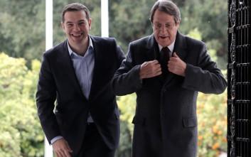 Τσίπρας: Η Αθήνα θα βρίσκεται πάντα στο πλευρό της Κύπρου