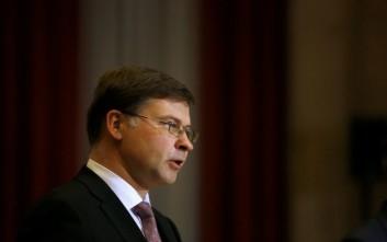Ντομπρόβσκις: Πιθανόν να ξεκινήσει διαδικασία υπερβολικού ελλείμματος σε βάρος της Ιταλίας