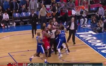 Ξύλο και μπουνιές μεταξύ παικτών στο NBA
