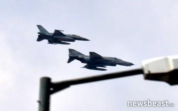 Ο ουρανός της Αθήνας «γέμισε» μαχητικά αεροπλάνα και ελικόπτερα