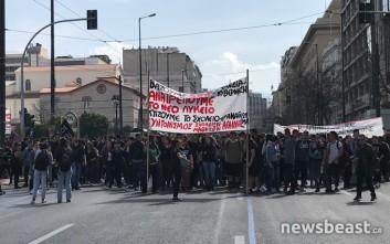 Σε εξέλιξη το μαθητικό συλλαλητήριο και η πορεία προς τη Βουλή