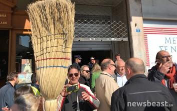 Συγκέντρωση απλήρωτων εργαζομένων των Δήμων στο Κέντρο της Αθήνας