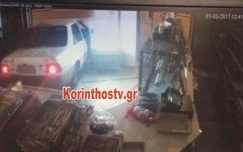 Κινηματογραφική ληστεία σε κατάστημα στην Κόρινθο