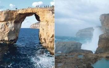 Θλίψη για το Γαλάζιο Παράθυρο της Μάλτας που δεν υπάρχει πια