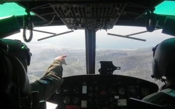 Ελικόπτερα του Στρατού Ξηράς «σάρωσαν» τα ελληνοαλβανικά σύνορα