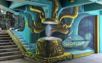Νέο γκράφιτι με φίδι εντυπωσιάζει στην Πολυτεχνειούπολη