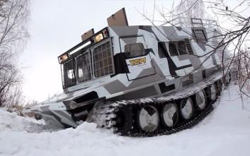 Το «όχημα-τέρας» της Σιβηρίας που δεν σταματά πουθενά