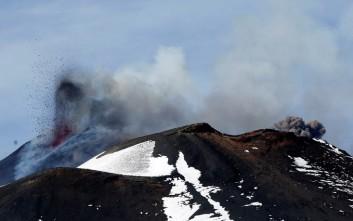 Η στιγμή της έκρηξης του ηφαιστείου της Αίτνας
