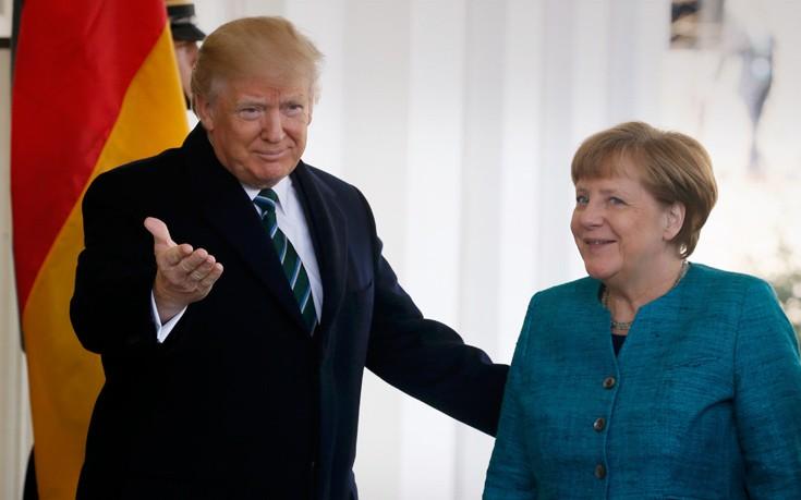 Μέρκελ: Σε καλό επίπεδο η συνεργασία με τον Τραμπ