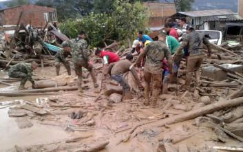 Τουλάχιστον 110 οι νεκροί από τις πλημμύρες στην Κολομβία