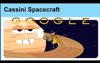 Το διαστημόπλοιο Cassini στο doodle της Google για το μεγάλο φινάλε πριν τη συντριβή