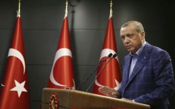 Ερντογάν: Η Τουρκία δεν θα μένει επ' άπειρον θεατής στο Κυπριακό