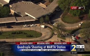 Ένοπλος άνοιξε πυρ μέσα σε συρμό του μετρό στην Ατλάντα