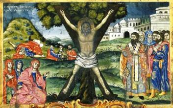 Ο Άγιος Ανδρέας που σταυρώθηκε στην Πάτρα έπειτα από εισήγηση των ειδωλολατρών ιερέων