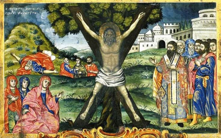 Ο Άγιος Ανδρέας που σταυρώθηκε στην Πάτρα έπειτα από εισήγηση των  ειδωλολατρών ιερέων – Newsbeast