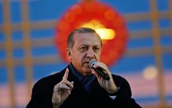 Ερντογάν: Η κατάσταση έκτακτης ανάγκης δεν θα αρθεί αν δεν επανέλθει πλήρης ηρεμία