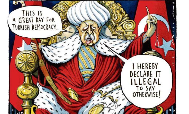 Ο σουλτάνος Ερντογάν στον θρόνο του και η δημοκρατία