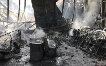 Κάηκε ολοσχερώς το ναυπηγείο στα Χανιά