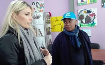 Μια διάσημη σοπράνο κοντά στους πρόσφυγες στα Διαβατά