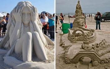 Μετέτρεψαν την άμμο σε έργο τέχνης