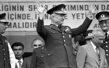 Ο πραξικοπηματίας στρατηγός Κενάν Εβρέν που ανέβηκε στο τιμόνι της Τουρκίας με τις ευλογίες ΝΑΤΟ και Ε.Ε.