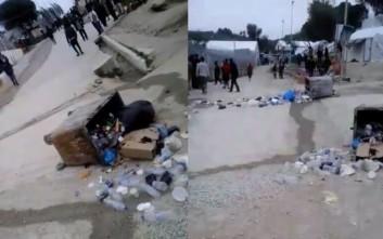 Επεισόδια και πέτρες κατά αστυνομικών στο hotspot της Μόριας