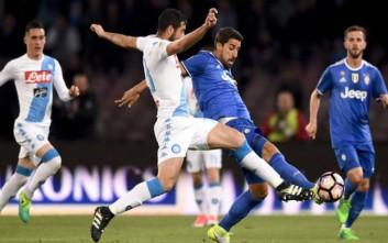 Ισχυρό προβάδισμα στη μάχη του τίτλου διατήρησε η Γιουβέντους με το 1-1 στη Νάπολι