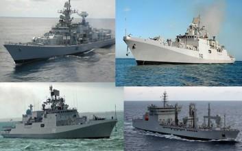 Πολεμικά πλοία της Ινδίας κατέπλευσαν στην Σούδα