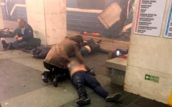 Βόμβα με καρφιά έσπειρε τον θάνατο στο μετρό της Αγίας Πετρούπολης