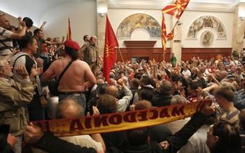 ΗΠΑ και ΕΕ καταδικάζουν τα επεισόδια στα Σκόπια