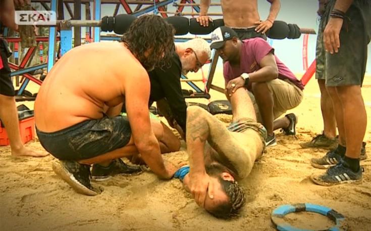 Η στιγμή του τραυματισμένου «μισθοφόρου» που πάγωσε το Survivor