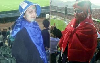 Οκτώ γυναίκες ντύθηκαν σαν άντρες για να πάνε γήπεδο και συνελήφθησαν
