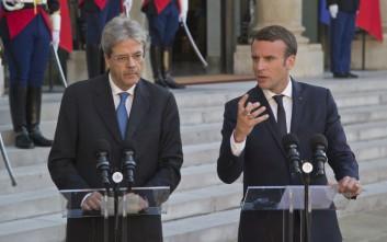 Ενίσχυση της Ευρωπαϊκής ολοκλήρωσης ζήτησαν Μακρόν και Τζεντιλόνι