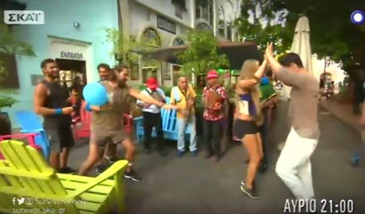 Οι χοροί του Ρουβά με τη Σάρα στον Άγιο Δομίνικο