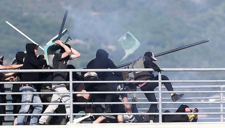 Το χρονικό των βίαιων επεισοδίων στο Πανθεσσαλικό σε ένα βίντεο