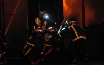 Πυρκαγιά σε υπαίθριο χώρο στο Γαλάτσι