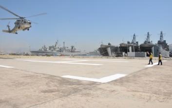 Αντιμετώπιση καταστροφών και από βομβαρδισμούς σε μεγάλες μονάδες του Ναυτικού