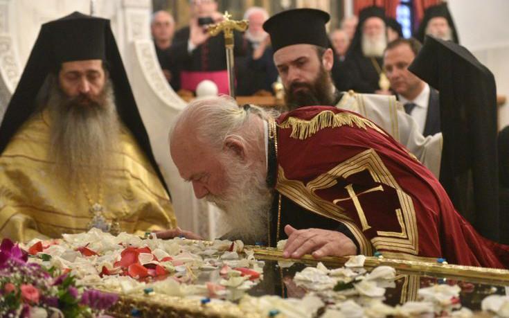 Δοξολογία για την υποδοχή του ιερού λειψάνου της Αγίας Ελένης