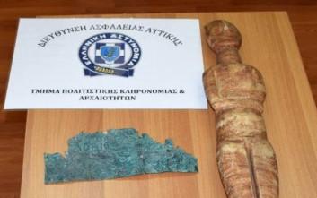 Αρχαία κινητά μνημεία μεγάλης αξίας κατείχε 46χρονος στον Άλιμο
