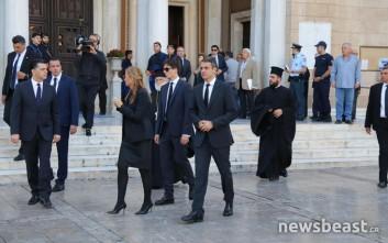 Μητσοτάκης και Μπακογιάννη αποχώρησαν από τη Μητρόπολη