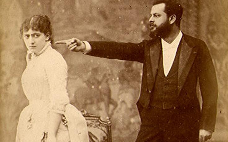 Ο πειραιώτης γόης ηθοποιός Αριστείδης Δαμαλάς που τόσο βασάνισε την ντίβα σύζυγό του, Σάρα Μπερνάρ