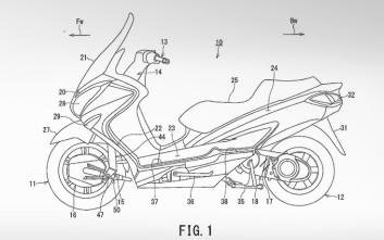 Η Suzuki εξελίσσει και πατεντάρει ένα υβριδικό δικίνητο σκούτερ