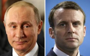 Μακρόν σε Πούτιν: Να διατηρηθούν οι κουρδικές δυνάμεις στη Συρία