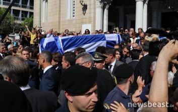 Το ύστατο χαίρε στον πρώην πρωθυπουργό Κωνσταντίνο Μητσοτάκη
