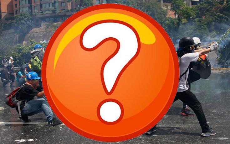 Ο αυτοσχέδιος καταπέλτης στους δρόμους του Καράκας