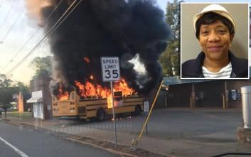 Η γρήγορη αντίδραση οδηγού σχολικού έσωσε 56 μαθητές