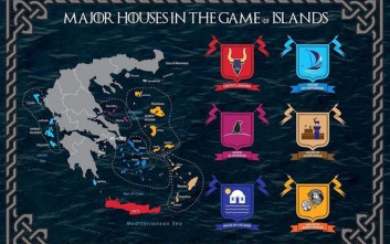 Καμπάνια με έμπνευση από το Game of Thrones χωρίζει τα ελληνικά νησιά σε 6 οίκους