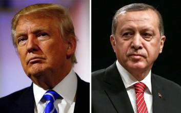 Νέα τηλεφωνική επικοινωνία Τραμπ- Ερντογάν για τη Συρία