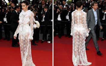 Το διάφανο φόρεμα της Sara Sampaio που τρέλανε τις Κάννες